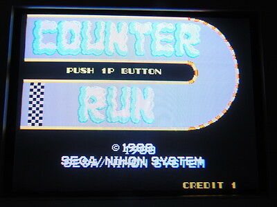 Counter Run -- Sega / Boot-Leg / Work & Clean / Arcade Jamma Pcb  **  614