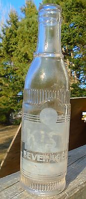 RARE 1939's VINTAGE KIST BEVERAGES (7 OZ.) HEAVY EMBOSSED ACL SODA POP BOTTLE