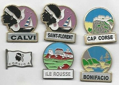 Lot De 6 Pin's Corse