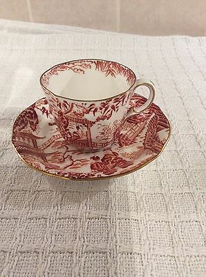 Royal Crown Derby Oriental Design China Cup and Saucer