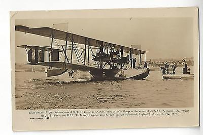 Trans-Atlantic Flight, N.C. 4, Plymouth, England, May 31st, 1919 RPPC
