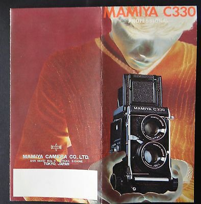Catalogue appareil photo MAMIYA CAMERA C330 professional catalog Katalog