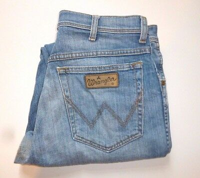 WRANGLER Jeans Mens Size W33 L31 STRETCH DISTRESSED IDEAL WORK JEANS