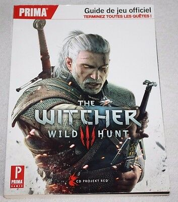 ++ guide jeu officiel THE WITCHER wild hunt III 3 ++