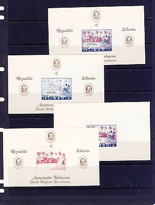Liberia 1957  Imperf Proofs  MNH