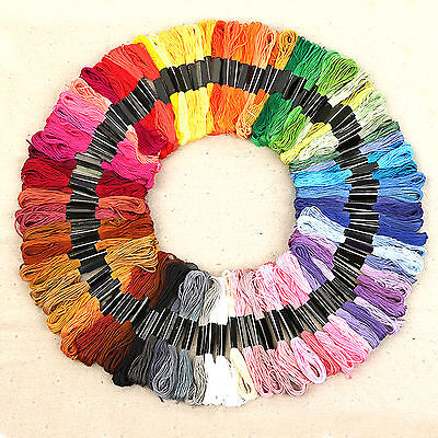 Lots 50 Cotton Cross Floss Stitch Thread Embroidery Sewing Skeins Multi Colors T
