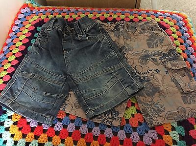 Baby Boys 12-18 Months Shorts X 2
