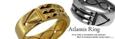 Atlantis Ring Grand Amulet Talisman Pharaons n2 Sterling Silver 925 Size 6-15