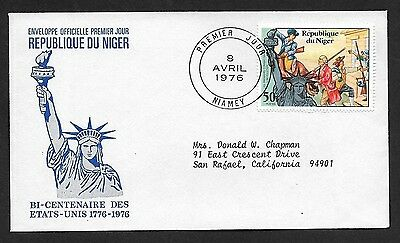 (111cents) Nigeria 1976 The First Fighter of Revolution First Day Cover