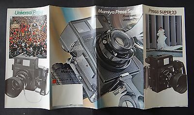 Catalogue appareil photo MAMIYA Press super 23 universal catalog Katalog