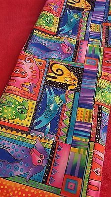 """Felines and Canines"" Fabric by Laurel Burch, 2 Yards"