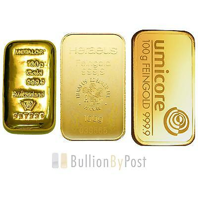 100g Gold Bars Best Value