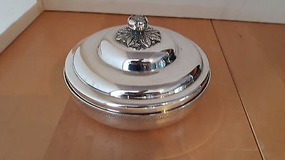 Vintage Silver Plated  Lidded Bon Bon Dish 6 Inches