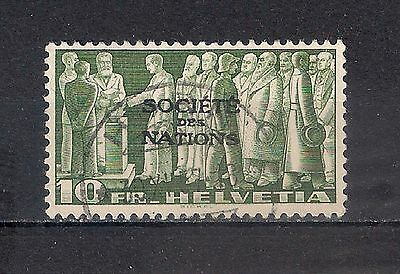SWITZERLAND LEAGUE OF NATIONS SC# 2O67  10fr green, buff  USED