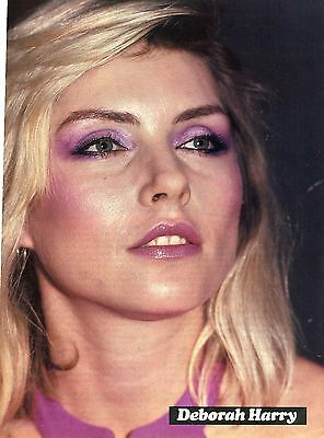 Debbie Harry Pinup Clipping 80's Close Up Blondie