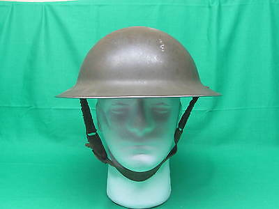 Lot 1) WW2 Canadian Military with Helmet Chinstrap & Liner GSW Mk 1 1941 Army