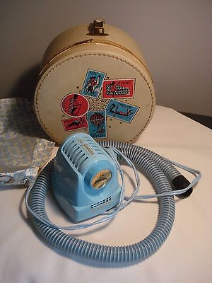 Vintage...Portable Lady Sunbeam...Turquoise...Hair & Nail Dryer...W/ Travel Case