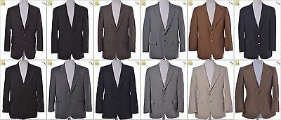 JOB LOT OF 17 VINTAGE MEN'S SUIT JACKETS - Mix of Era's, styles and sizes(20872)