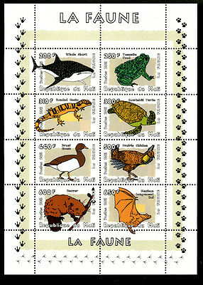 Mali 2011 Sheet Mng Wildlife Birds Bats Frogs Whales Turtles Beaver Lizards