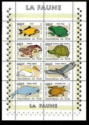 Mali 2011 Sheet Mng Wildlife Birds Bats Frogs Beluga Turtles Fishes Lizards