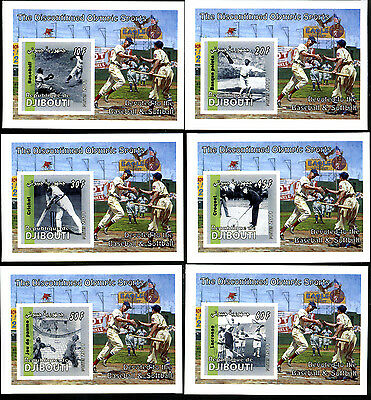 Djibouti 2011 12 Sheets Discontinued Sports Baseball Tennis Softball Deportes