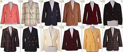 JOB LOT OF 15 VINTAGE WOMEN'S BLAZERS - Mix of Era's, styles and sizes (20898)