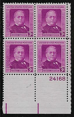 US Scott #988, Plate Block #24168 1950 Samuel Gompers 3c FVF MNH Lower Right