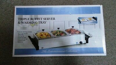 Bella Cucina All Occasion Triple Buffet Server & Warmer Vgc