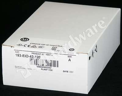 New Sealed Allen Bradley 193-EIO-43-120 /A E300 Control Module 4/3 In/Out 120V