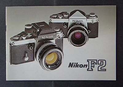 Catalogue publicité appareil photo NIKON F2  catalog Katalog