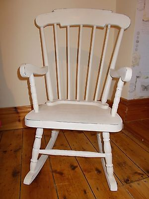 Childs chabby/shabby chic  solid wood rocking chair