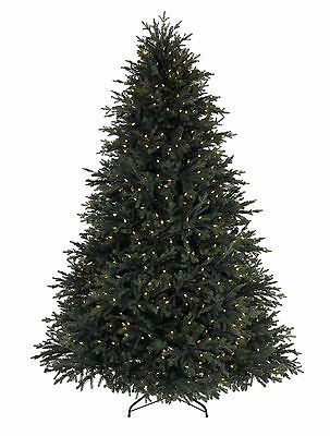"""BALSAM HILL NORWAY SPRUCE 7"""" (210CM) WITH LED clear LIGHTS RRP 539£"""