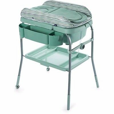 Chicco Baby Cuddle & Bubble Comfort Baby Bath & Changing Table eucalyptus green