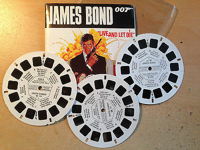 Viewmaster James Bond Roger Moore 1973 Live and Let Die 21 3-D photos from film