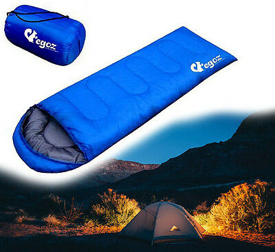 Sleeping Bag Outdoor Camping Easy Carry Hiking Travel Egoz Outdoors Peanut