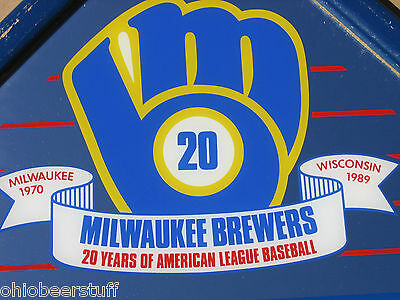 Milwaukee Brewers Mlb 20 Years 1970-1989 Miller Beer Sign Baseball Mirror