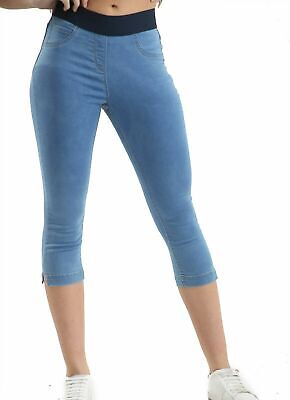 EX Stores Jeggings Elasicated Waist Stretch Denim Skinny Jeans Trousers UK 8-22