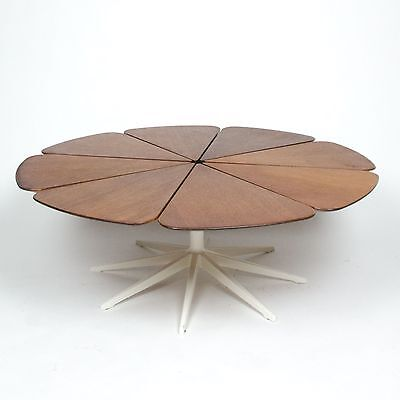 Vintage Knoll Richard Schultz Petal Coffee Table Teak Eames Mid Century