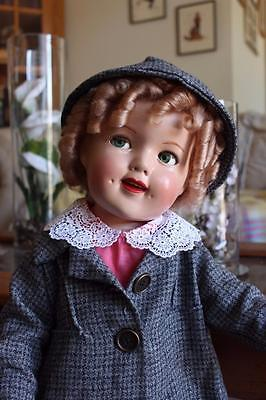 """27"""" Ideal Doll flirty eyed Shirley Temple Doll Composition doll"""