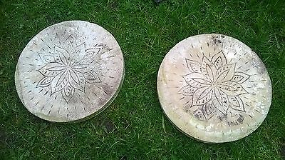 Thick Concrete Garden Stepping stones Very Decorative COLLECTION ONLY