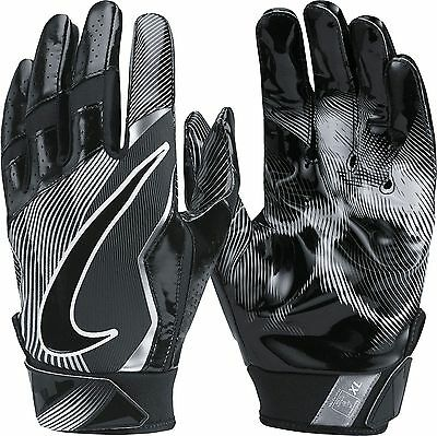 new mens M Nike vapor jet 4/4.0 receiver gloves/pair black/silver gf0491-011