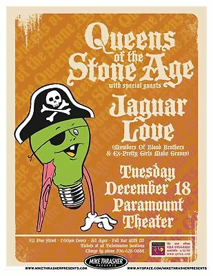 QUEENS OF THE STONE AGE 2007 Gig POSTER Seattle Washington Concert