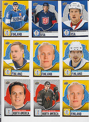 2016 UPPER DECK WORLD CUP OF HOCKEY 1-40 SET AUSTON MATTHEWS CONNOR McDAVID ++