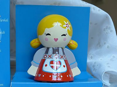 Hand-painted Wooden European Swiss Doll Kokeshi - New in Box