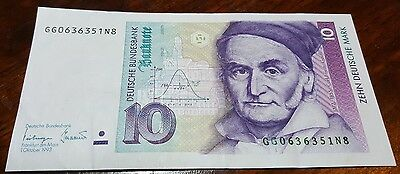 10 German Deutsche Mark note