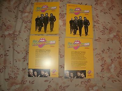 The Rolling Stones,exhibitionism,dhl Competition Flyers, X 4