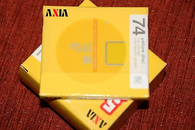 Minidisc AXIA MD J'z 74 Yellow RARE!!!! NEW!! MINT!!! Made in Japan