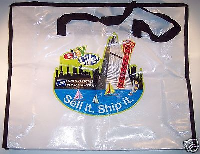 eBay Live U.S.P.S. Sponsor Laminated Tote Zippered Bag Swag Chicago 2008 VG