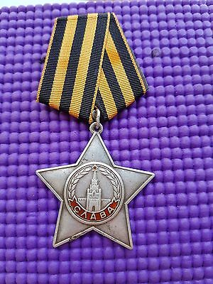 "USSR WW2 military silver orders 1945 year ""Order of Glory 3 degree"" SN 103208"