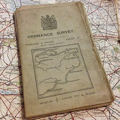 Ww1 1914 British Officer Military Map Training, Army Trench, Ordnance Survey Wwi